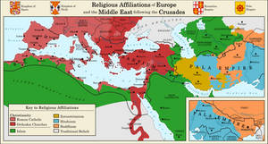 Europe and the Middle East following the Crusades