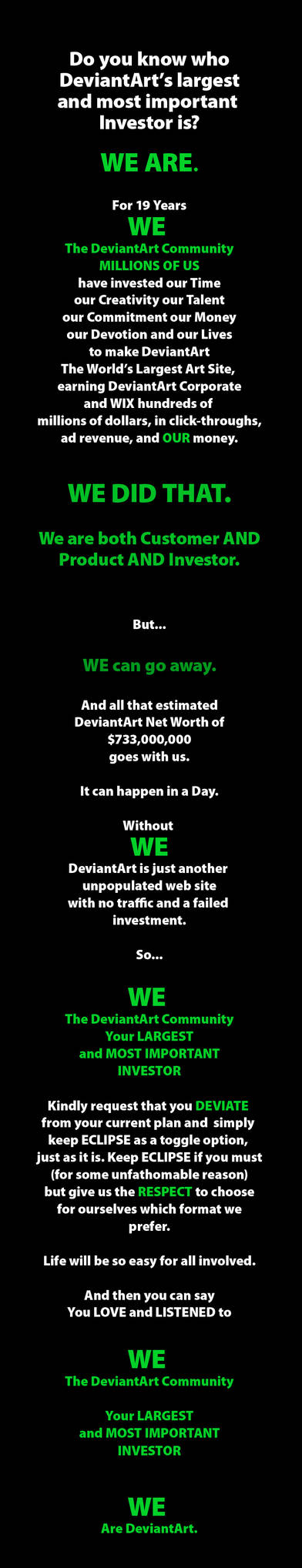 WE Are DeviantArt!