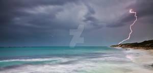 Lightning over Burns Beach
