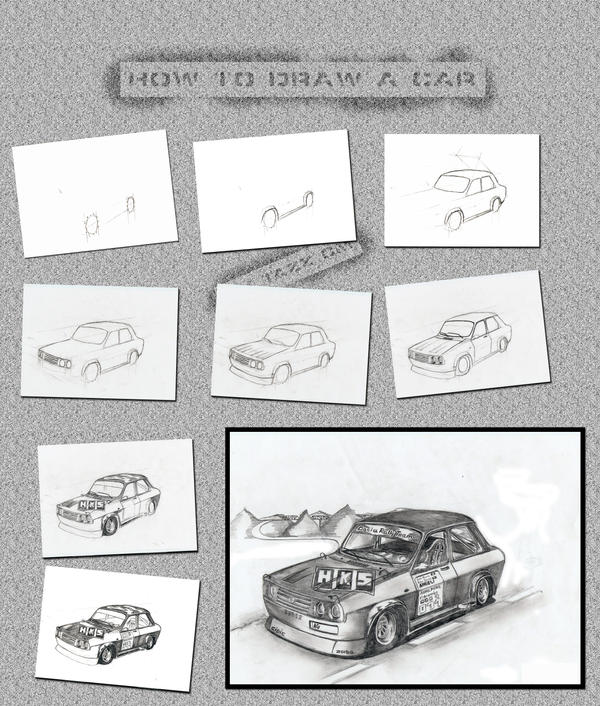 How to draw a car by TaZZCM