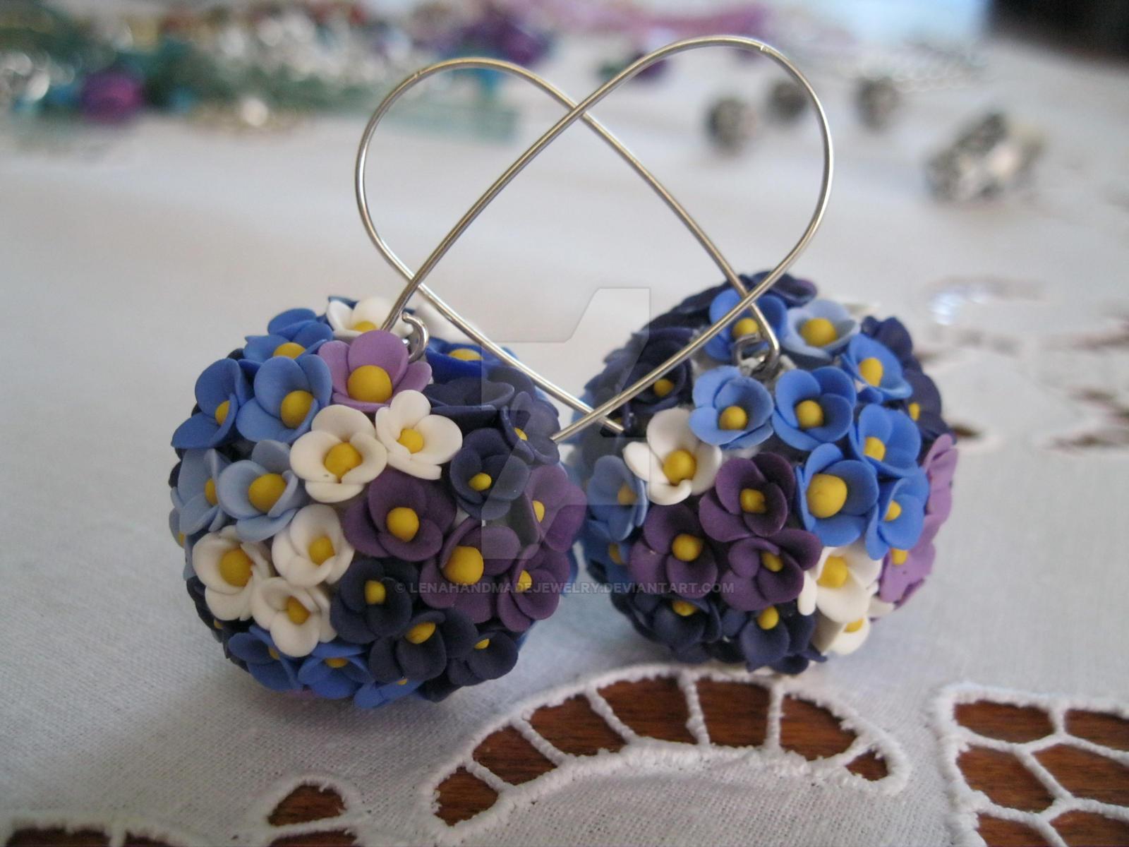 Earrings - flowers by LenaHandmadeJewelry