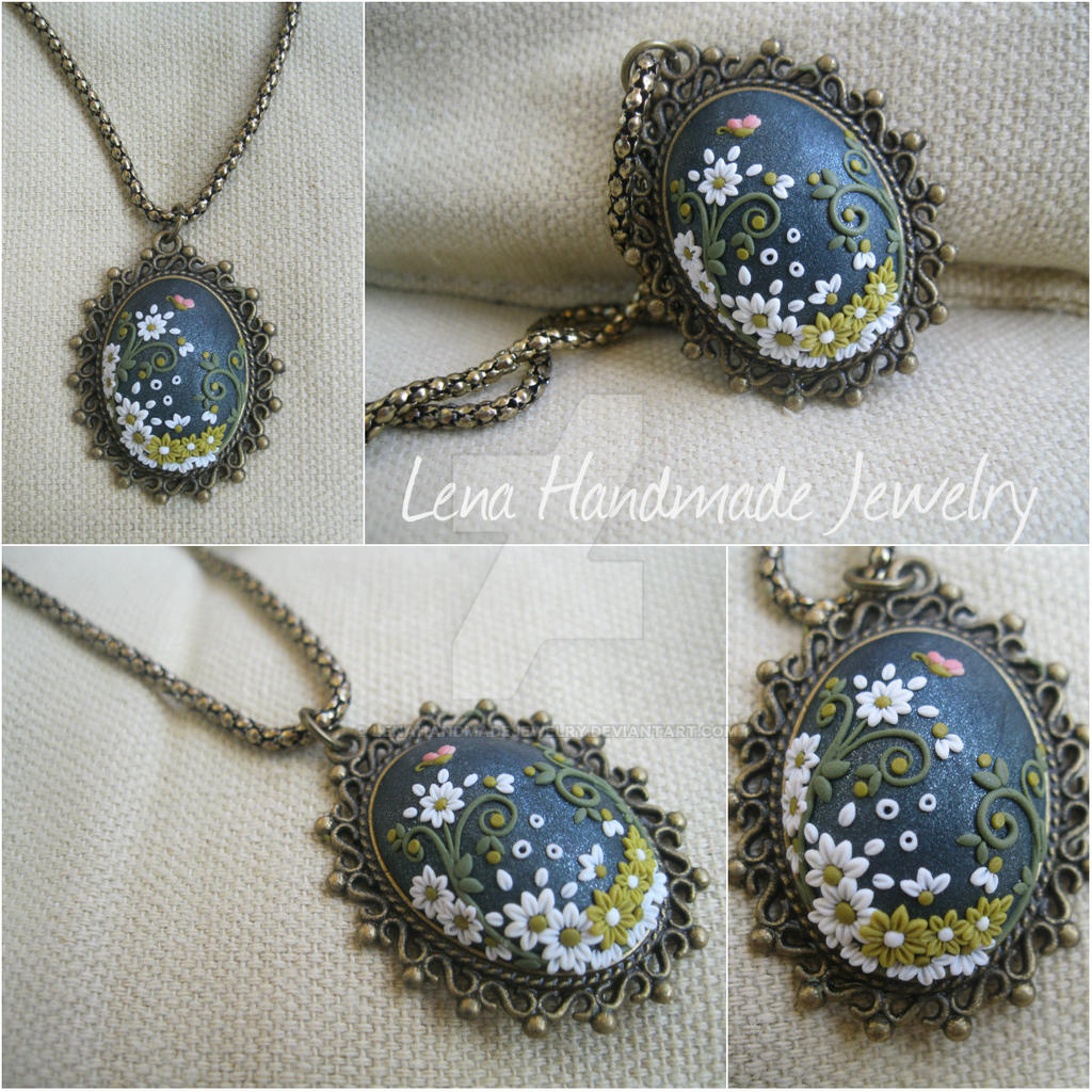 Little Butterfly Pendate by LenaHandmadeJewelry