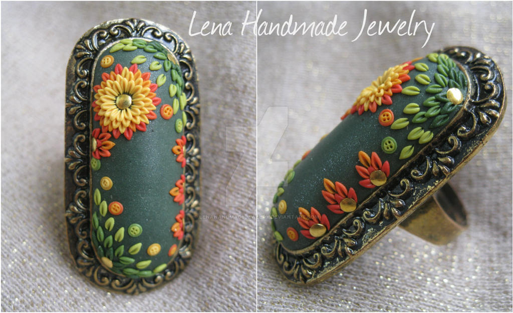 Flower of Fire by LenaHandmadeJewelry