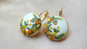 Warm Sunrise Handmade Clay Earrings