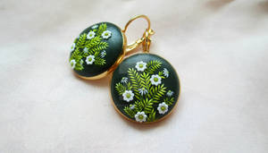 Spring Green earrings by Lena Handmade Jewelry