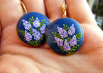 Valley of lilacs polymer clay earrings jewelry