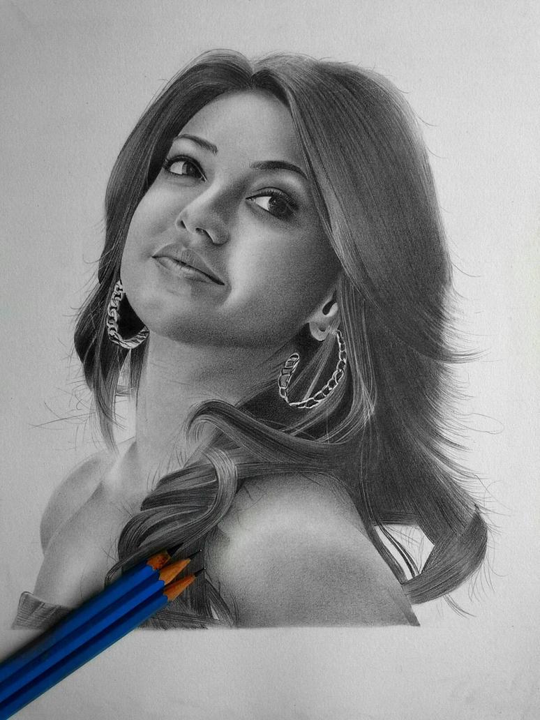 Kajal Agarwal In Pencil..... By Ssarma On DeviantArt