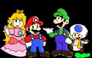 3D World Characters by PoisonLuigi