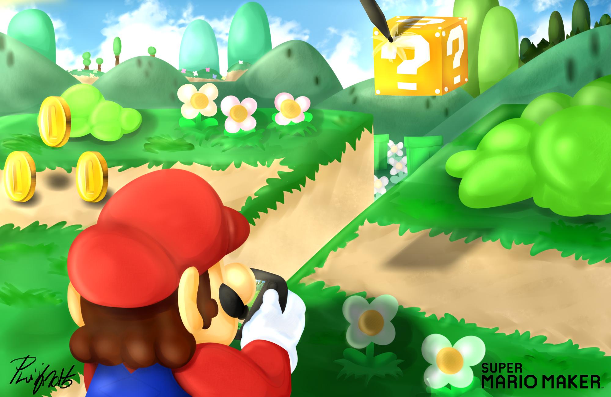 Super Mario Maker Artwork