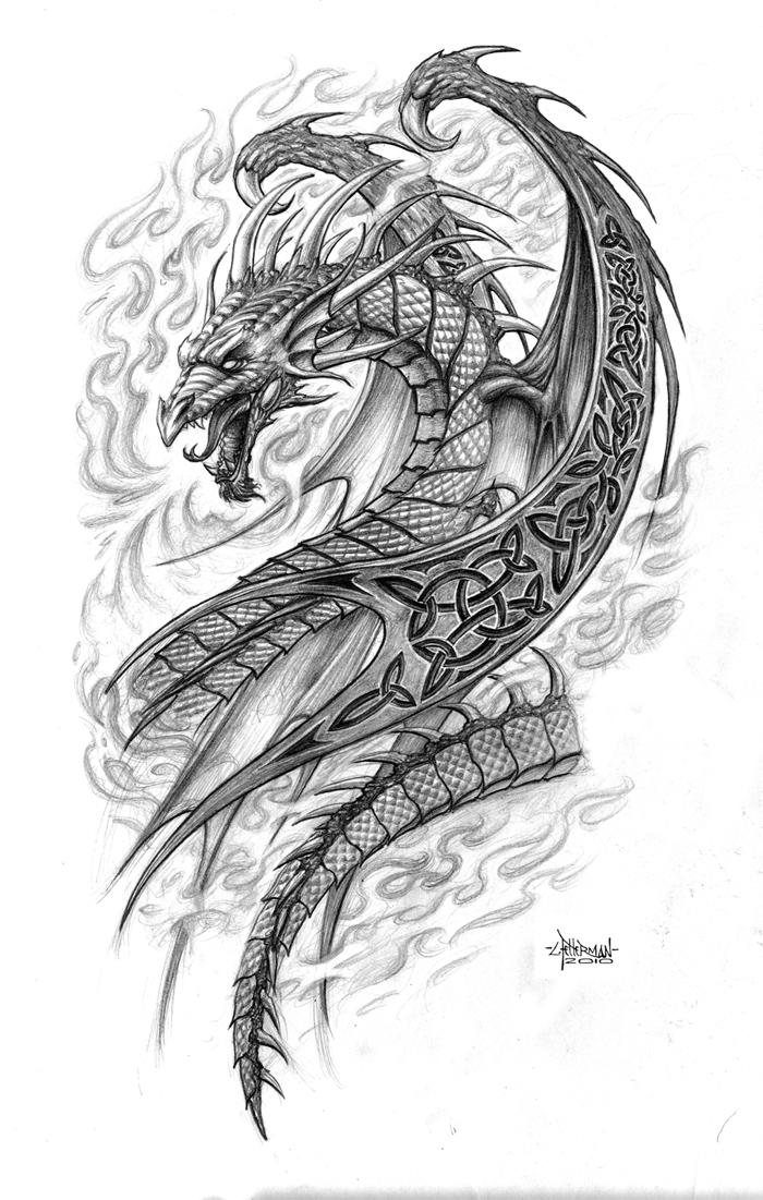 Celtic Dragon By Loren86 On DeviantArt