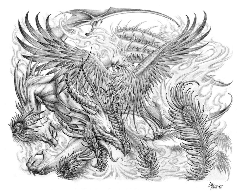 Dragon Phoenix Tattoo by