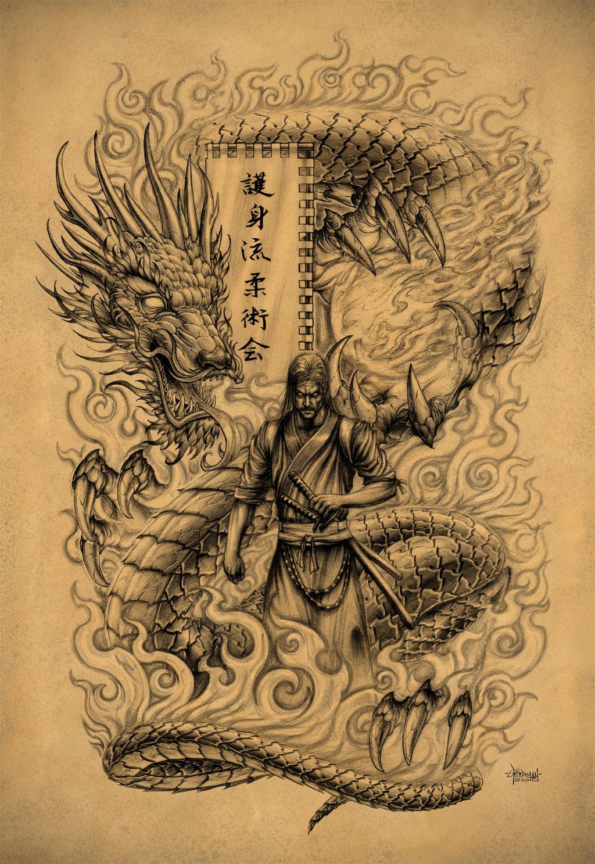 Samurai Dragon by Loren86Dragon Samurai