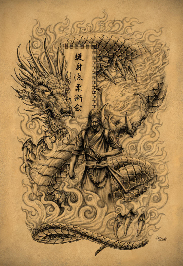 Japanese samurai tattoo designs gallery zentrader for Dragon and samurai tattoo meaning