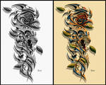 Tiger Rose Tattoo