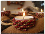 Our Advent Wreath candle:D by ViCeCityPhotographer