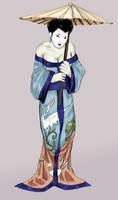 Geisha Gal by cluedog by blackbirdjsps