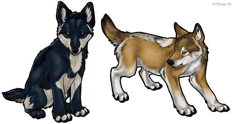 Pin Anime Wolf Pups Playing Serbagunamarinecom on Pinterest