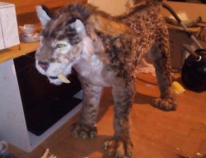 Rideable Smilodon SOLD