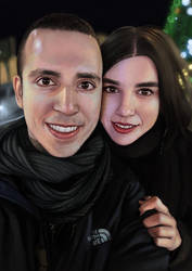 Portrait of my fiance and I