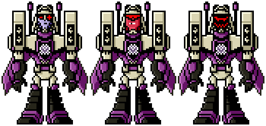 Pixel Art Blitzwing Transformersanimated By Dappeppad On