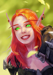 lovely blood elf girl by lynadeathshaow