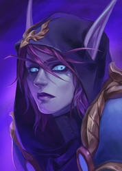 commission - Void Elf by lynadeathshaow