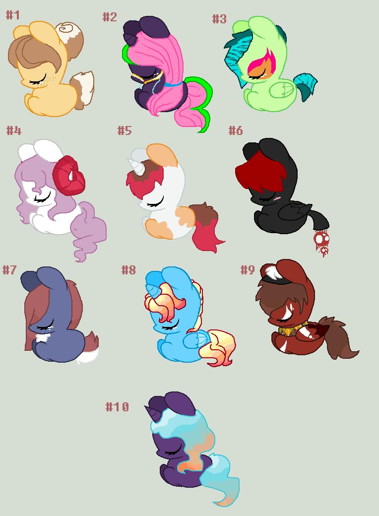 D2a ponies :D by REDandYELLOWZ