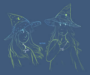 Hat Full of Sky Sketches