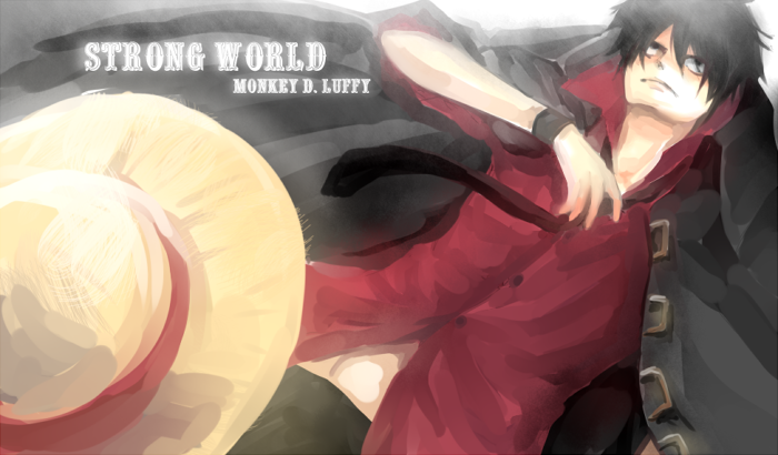 "OP : LUFFY "" STRONG WORLD "" by Shumijin"