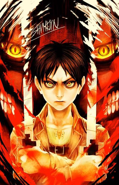 Shingeki no Kyojin - Eren Jaeger by Shumijin