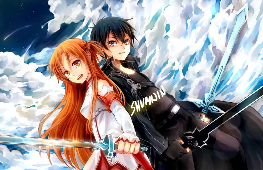 Sword art online asuna and kirito by shumijin on deviantart