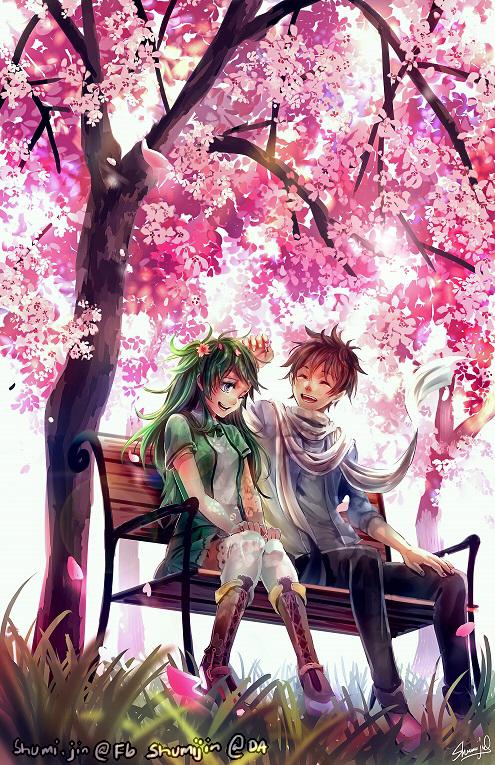 Commission - Midori + Shiro by Shumijin