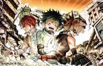 Boku no Hero Academia - Shouto, Izuku, Bakugou
