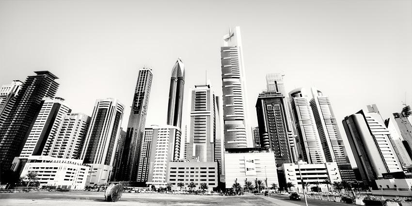 Sheikh Zayed Skyscrapers Dubai by xMEGALOPOLISx