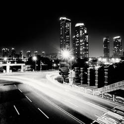 Seoul Korea Highway of Light by xMEGALOPOLISx