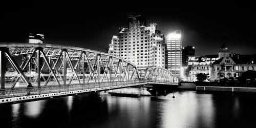 Shanghai bridge by xMEGALOPOLISx