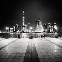 Shanghai Night Skyline by xMEGALOPOLISx