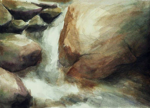 Waterfall Watercolour