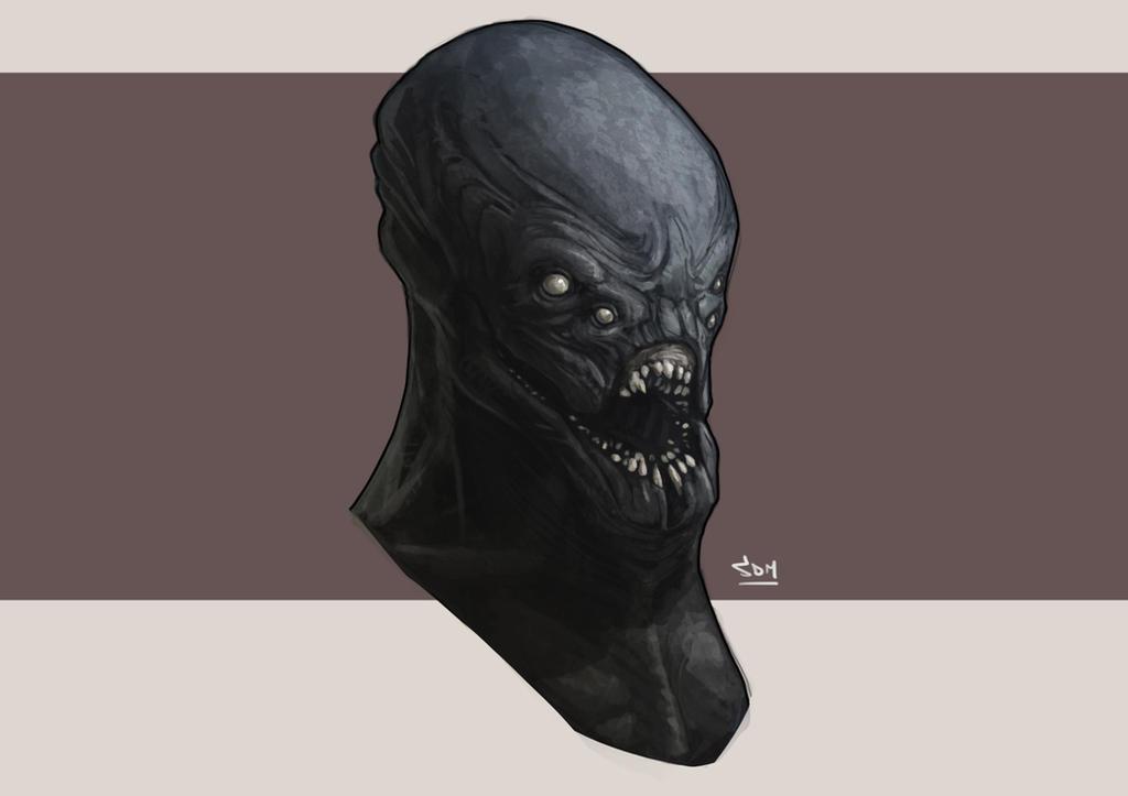 Alien Head Concept by SpikeSDM