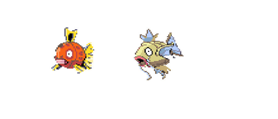 Feebas magikarp pokemon color by 123vilocirapter