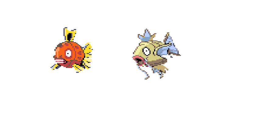 Feebas magikarp pokemon color by 123vilocirapter