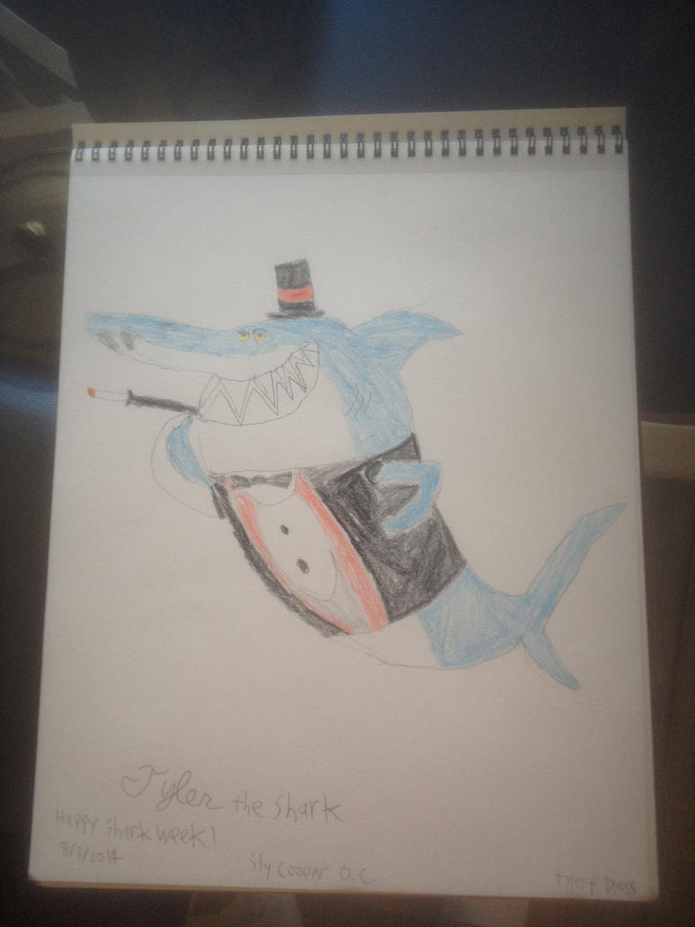 Sly Cooper OC Tyler the Shark (Shark Week 2014) by TDManiacXC626
