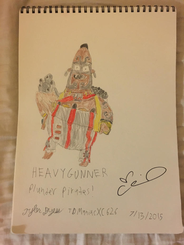Plunder Pirates Heavy Gunner (Autographed) by TDManiacXC626