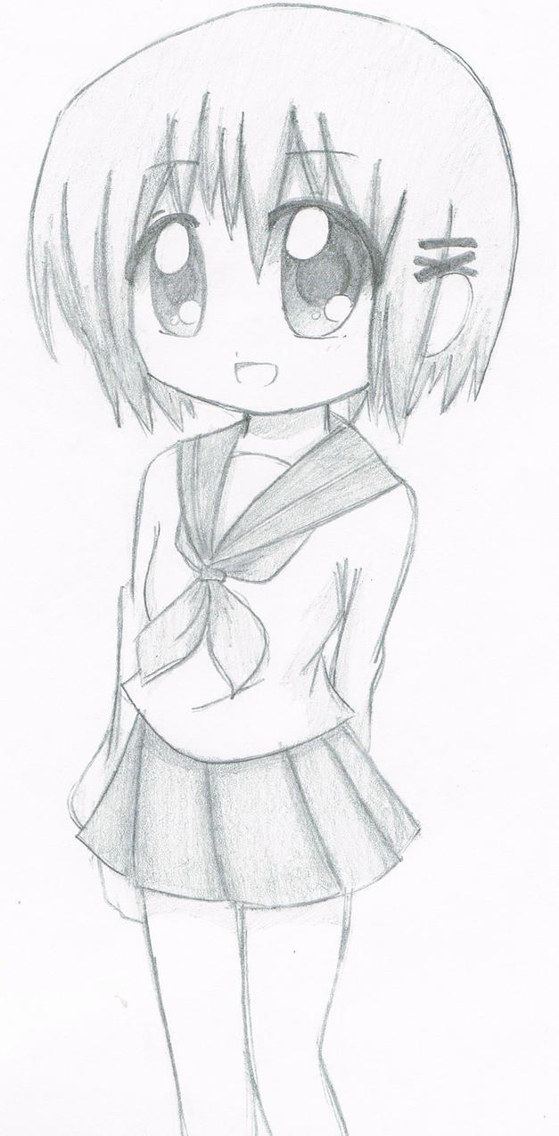 Anime Girl Sketch by KriticalPhenomenon on DeviantArt