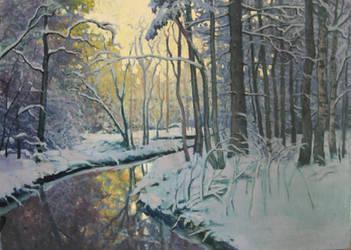 Winterriver by kahuella
