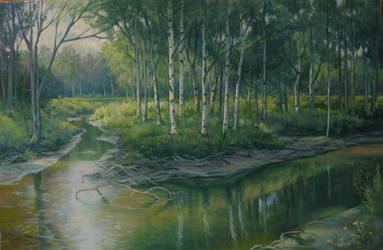 Branching River by kahuella