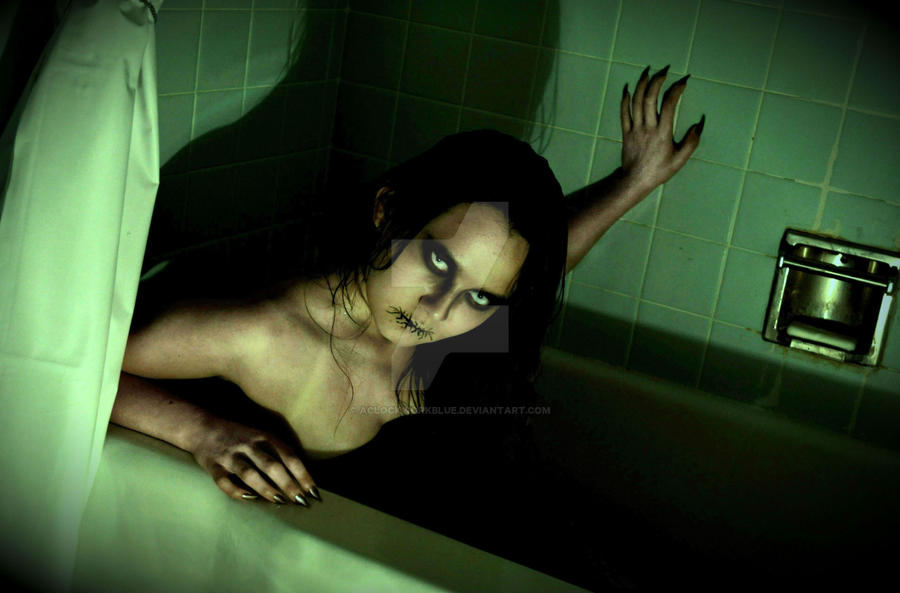 Monster in the Bath Tub by AClockworkBlue on DeviantArt