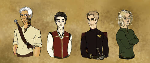 Throne of Glass boys by vervaineyes