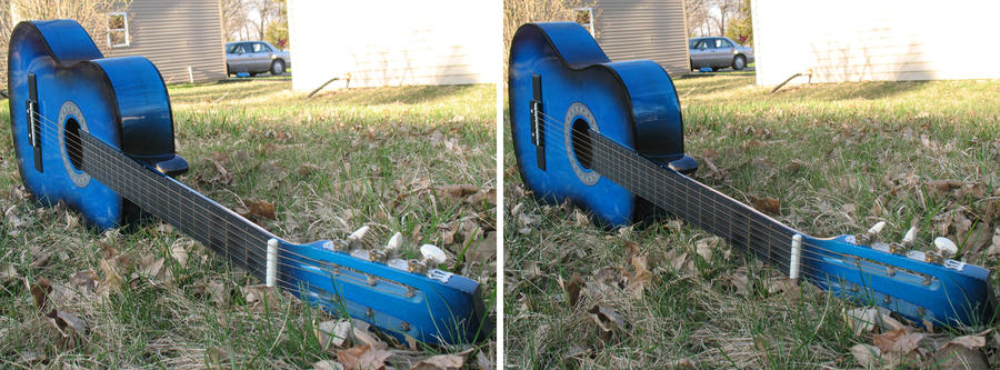 Blue Guitar 3D : Version 1 WIP by vincegotera