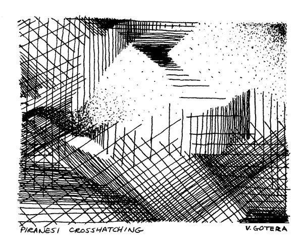 Piranesi Crosshatching by vincegotera